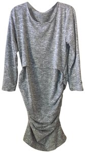 None Heather Gray Knit Fitted Nursing Dress