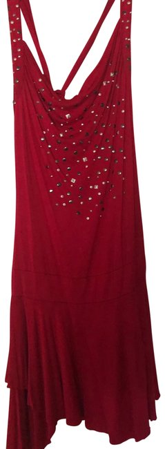 Item - Red 1234 Mid-length Short Casual Dress Size 8 (M)
