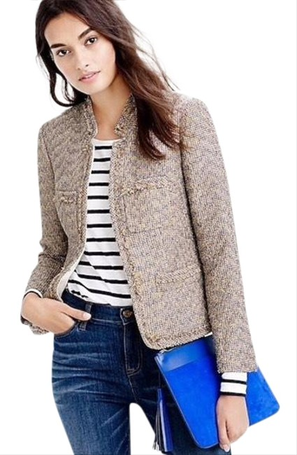 J.Crew Nwt. Metallic Tweed Jacket Size 4 (S) J.Crew Nwt. Metallic Tweed Jacket Size 4 (S) Image 1