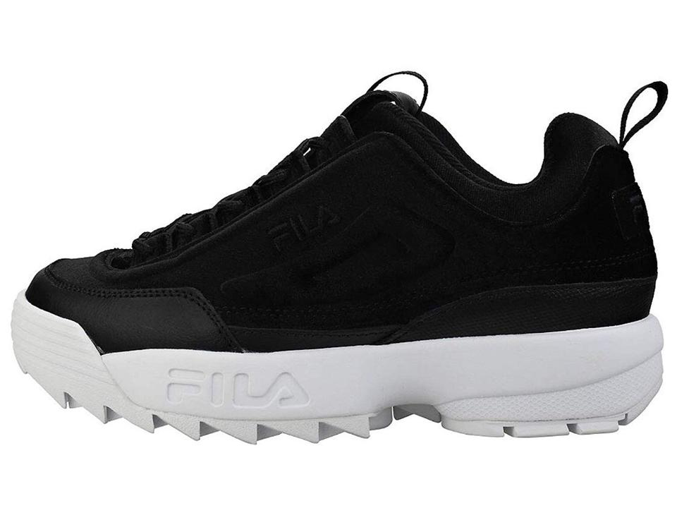 classic fit clearance prices new selection Fila Black Disruptor Ii Velvet Chunky Sneakers Size US 8 Regular (M, B) 47%  off retail
