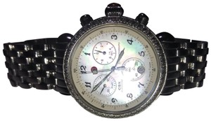 Michele Silver Classic Round Face with Diamond Watch