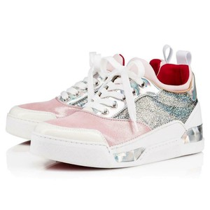 075506efb1915 Christian Louboutin Sneakers Trainers Metallic Silver/Pink/White Athletic