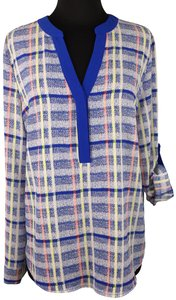 Pixley Plaid Polyester Casual Longsleeve Top Multicolor