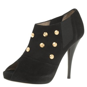 8cf422723c630 Fendi Studded Suede Platform Ankle Leather Black Boots