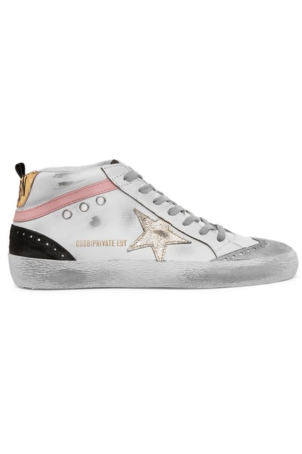Item - Mid Star Distressed Leather and Suede Sneakers Size EU 38 (Approx. US 8) Regular (M, B)