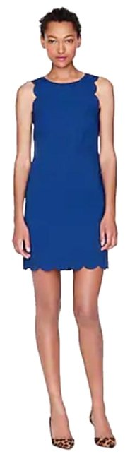 Item - Royal Blue Scalloped Trim Short Work/Office Dress Size 10 (M)