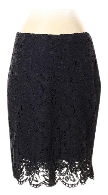 Item - Black Laced Pencil Skirt Size 4 (S, 27)
