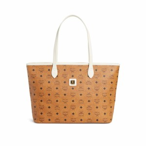 MCM Tote in cognac/off white