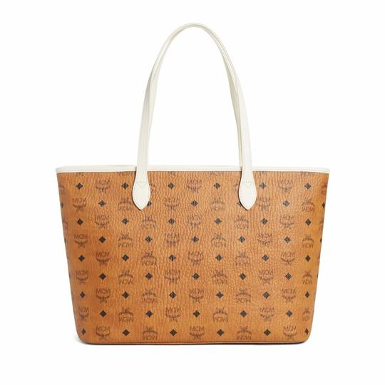 MCM Tote in cognac/off white Image 1