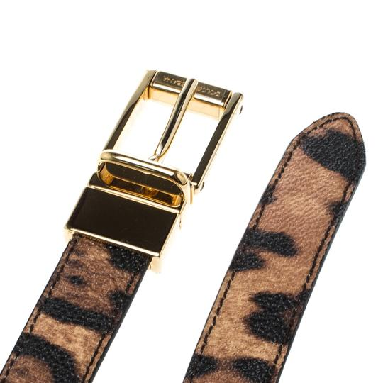Dolce&Gabbana Brown Leopard Print Leather Belt 85cm Image 4