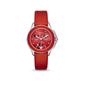 Michele Red (Red/Silver) Cape Chrono Sunray Dial Mww27c000004 Watch