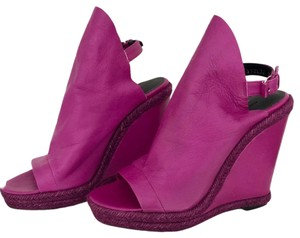 Balenciaga purple Wedges