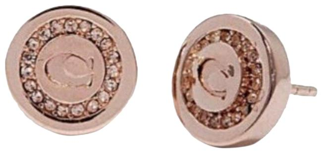 Item - Rose Gold Monogram Logo Cc Earrings