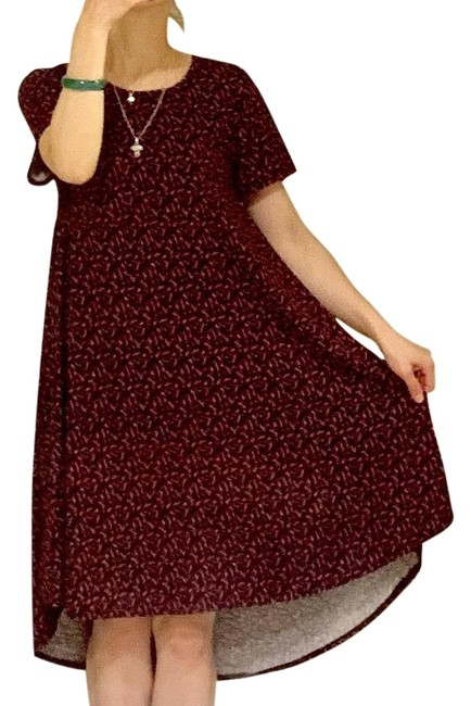 Item - Red Grey & Black Print Carly Mid-length Short Casual Dress Size 0 (XS)