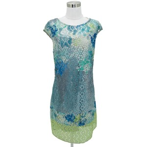 KAY UNGER short dress Blue, White, Green on Tradesy