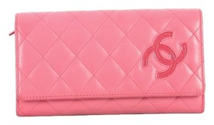 Chanel Leather Pink Clutch