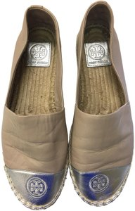 Tory Burch Espadrille Colorblock Free Shipping Smoke & Pet Free Lt. Taupe/Silver Flats
