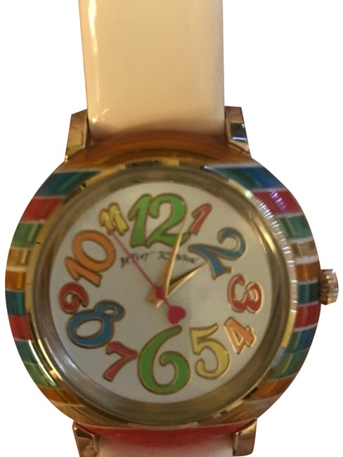 Item - White Strap - Multi Color Face Watch