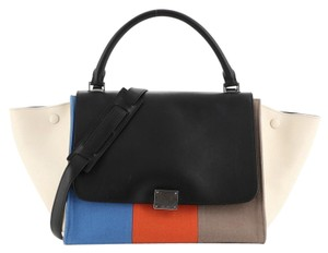 Céline Leather Felt Satchel in Multicolor