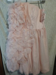 White by Vera Wang Pedal Pink Shell 100%polyester Lining100%polyester Bubble Asymmetrical Organza Vw360094 Formal Bridesmaid/Mob Dress Size 20 (Plus 1x)