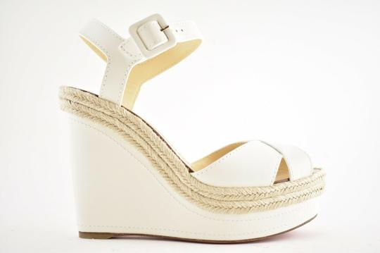 Christian Louboutin Pigalle Stiletto Classic Galeria Studded white Wedges Image 1