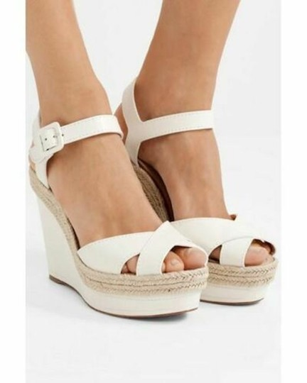 Christian Louboutin Pigalle Stiletto Classic Galeria Studded white Wedges Image 2