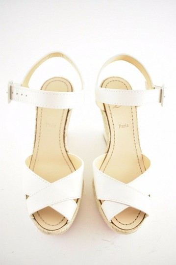 Christian Louboutin Pigalle Stiletto Classic Galeria Studded white Wedges Image 6