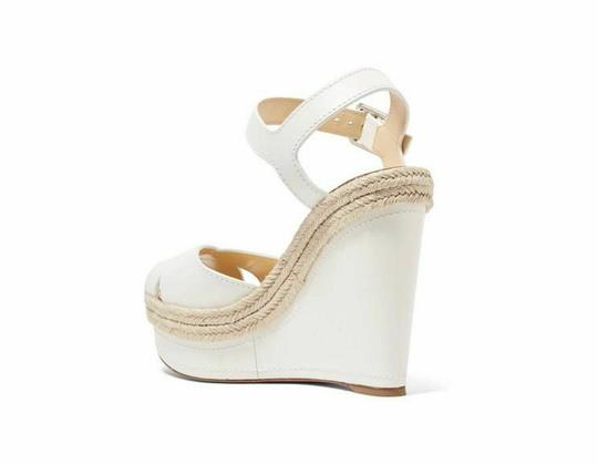 Christian Louboutin Pigalle Stiletto Classic Galeria Studded white Wedges Image 7