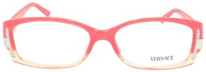 Versace Versace Rectangle Pink Gradient Rhinestone MOD 3054-B Rx Eyeglasses