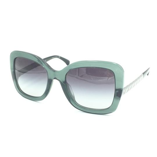 Chanel Butterfly Transparent Green Gray Gradient Sunglasses 5370-A 1546/S6 Image 1