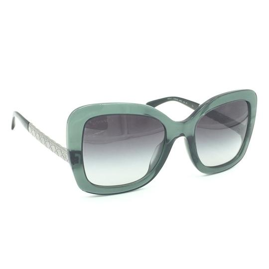 Chanel Butterfly Transparent Green Gray Gradient Sunglasses 5370-A 1546/S6 Image 2