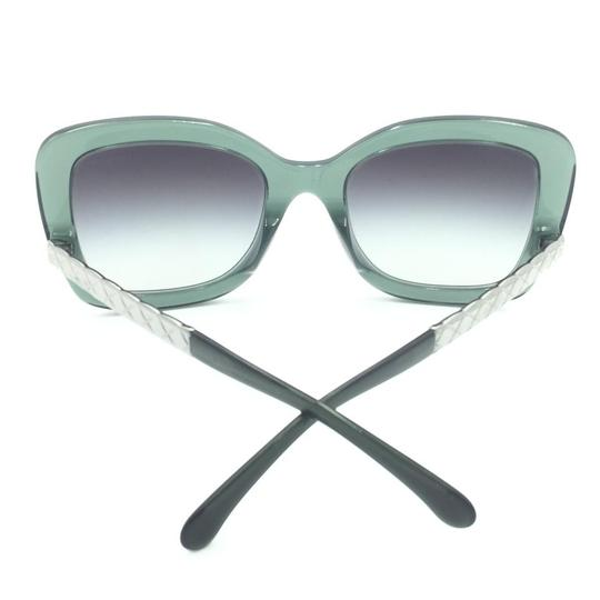 Chanel Butterfly Transparent Green Gray Gradient Sunglasses 5370-A 1546/S6 Image 7