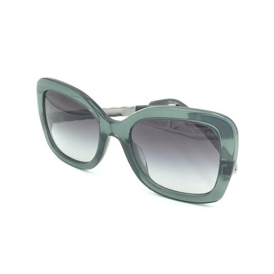 Chanel Butterfly Transparent Green Gray Gradient Sunglasses 5370-A 1546/S6 Image 8