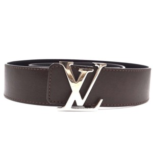 Louis Vuitton Reversible LV signature logo silver buckle leather Belt size 85/34