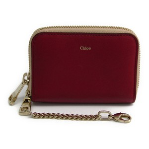 Chloé Chlo Baylee 3P0268 889 Women's Leather Coin Purse/coin Case Pink,Red