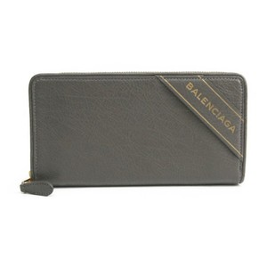 Balenciaga Balenciaga BLANKET 466544 Women's Leather Long Wallet (bi-fold) Gray