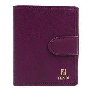 Fendi Fendi 8M0188 Women's Leather Wallet (bi-fold) Purple