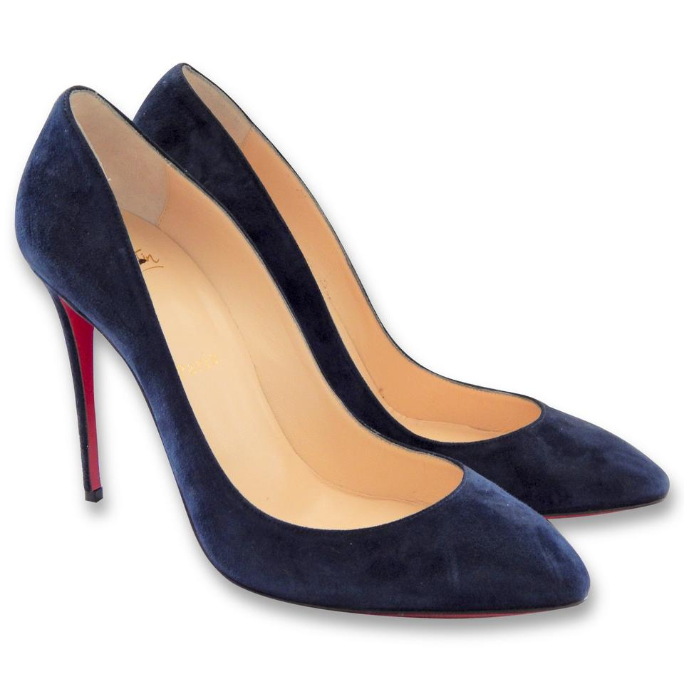 buy popular 08982 bdc72 Christian Louboutin Navy Blue Worn Once Pigalle Follies 100 Mm Suede -  Pumps Size EU 39 (Approx. US 9) Regular (M, B) 12% off retail