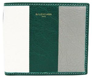 Balenciaga Balenciaga Bazar 486461 Women's Leather Wallet (bi-fold) Gray,Green,White