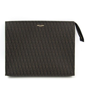 Saint Laurent Black / Dark brown Clutch