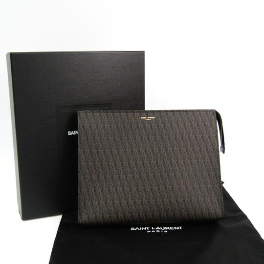 Saint Laurent Black / Dark brown Clutch Image 10