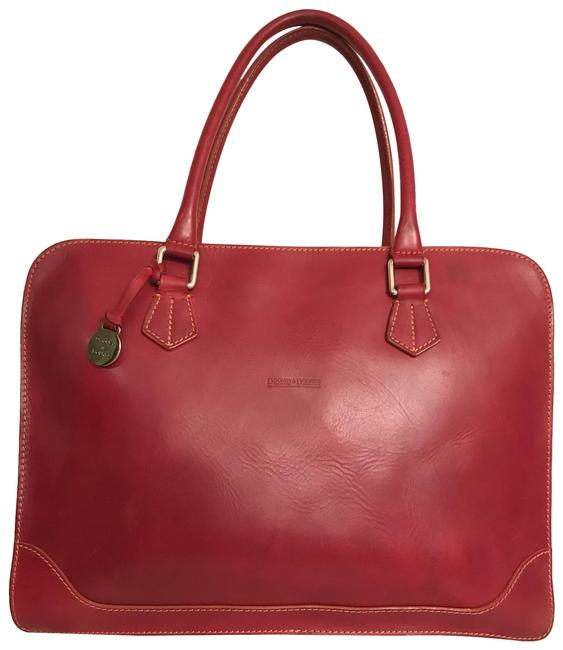 Item - Alto Collection Easy Cherry Red Silver Leather Laptop Bag