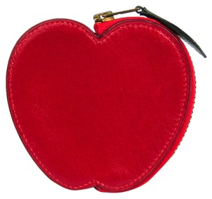 Hermès Hermes Apple Women's Box Calf Leather Coin Purse/coin Case Red