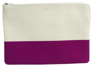 Céline Purple / White Clutch