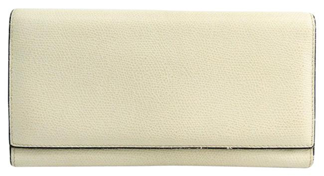Item - White Long Removable 12 Card Holder V9l15 Unisex Leather (Bi-fold) Wallet