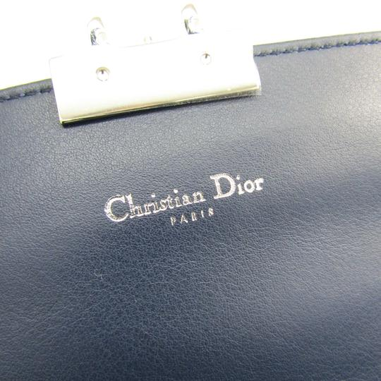 Dior Christian Dior Women's Patent Leather Chain/Shoulder Wallet Blue Image 7