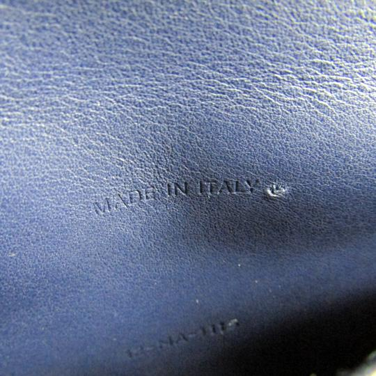 Dior Christian Dior Women's Patent Leather Chain/Shoulder Wallet Blue Image 8