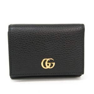 Gucci Gucci GG Marmont 474746 Women's Leather Wallet (tri-fold) Black