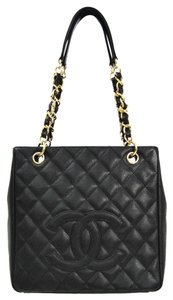 Chanel Quilted Caviar Pst A20994 Tote in Black