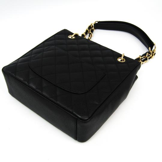 Chanel Quilted Caviar Pst A20994 Tote in Black Image 1